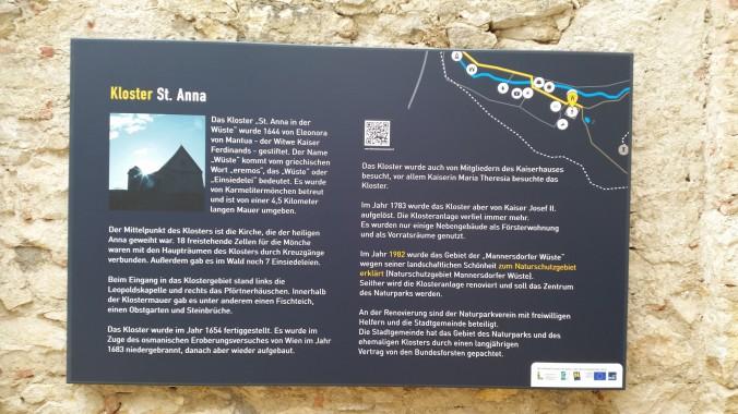 Infotafel ehem. Kloster St. Anna