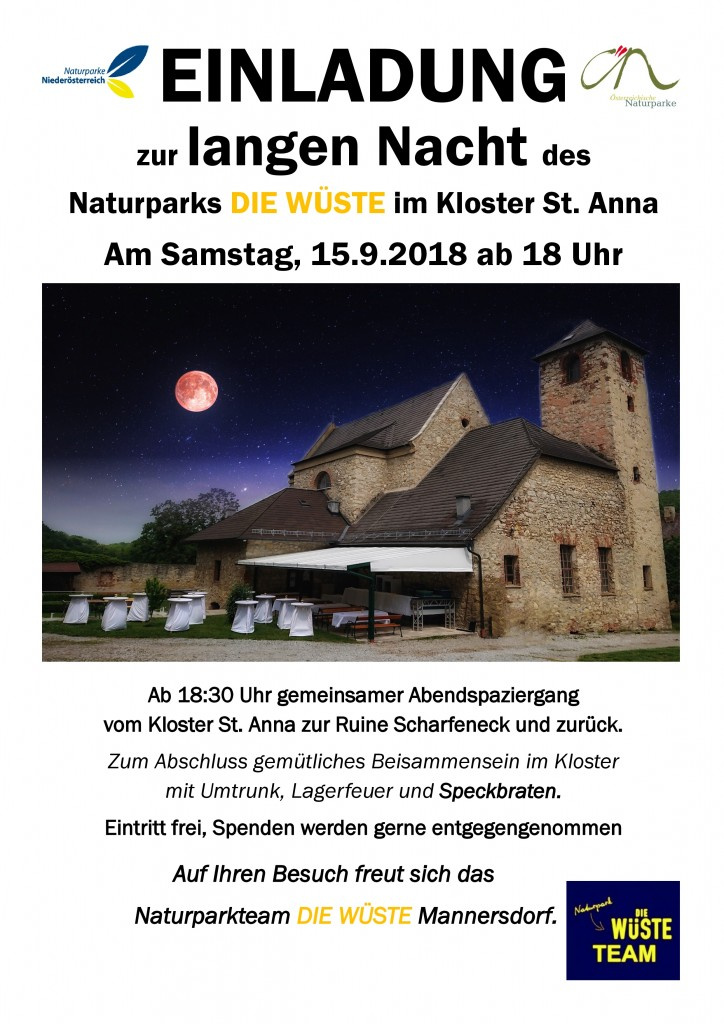 Lange Nacht WÜSTE 2018